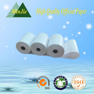 Cash Register Paper Type 79mm X 60mm Thermal ATM Paper Rolls pictures & photos
