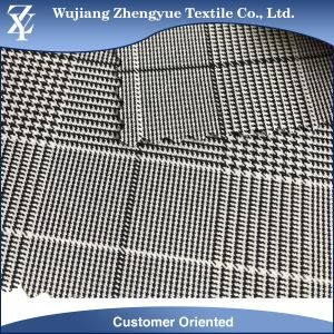 Polyester Spandex Cation Stripe Houndstooth 4 Way Stretch Fabric for Woman Pants pictures & photos