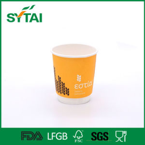 Take Away Coffee Paper Cup Disposable Custom Logo Double Wall Cup with Lid pictures & photos