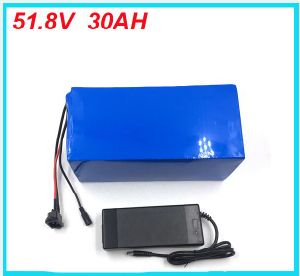 High Quality 1000 Time Cycle 14s BMS Electric Bike Lithium Ion Battery 51.8V 30ah Charger Battery Lithium 52V 1500W Bike Battery pictures & photos