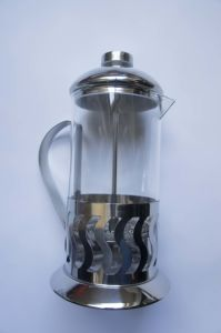 Stainless Steel French Press /Large Stainless Steel Glass Cafetiere French Filter Modern Coffee and Tea Press Plunger pictures & photos