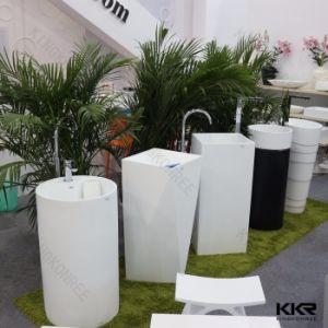 Luxury Bathroom Freestanding Hand Basin Pedestal pictures & photos
