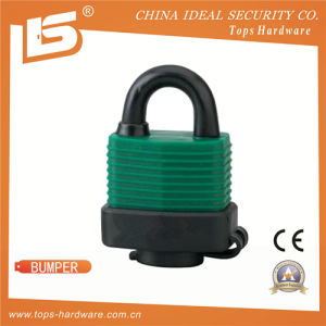 Laminated Padlock Double Locking Outdoor Padlock with PVC Bumper- Bumper pictures & photos