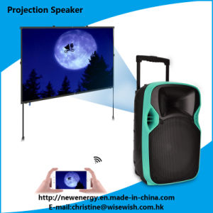 Professional 12 Inches Active Speaker with LED Projector pictures & photos