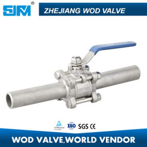 3PC Long Extended Weld Ball Valve pictures & photos