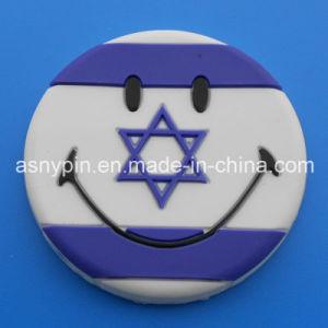 Smile Theme Fridge Magnet Round 3D Israel Flag Design Fidge Magnet pictures & photos