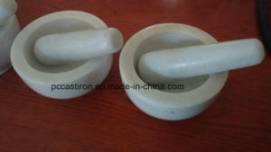 SGS Qualified White Marble Mortar and Pestle Price pictures & photos