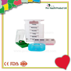 Weekly Pill Container 3 Compartment Mini Pill Box Pill Cutter pictures & photos