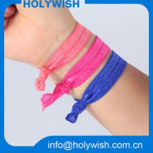 Unique Custom Elastic Wristband Colorful Hair Band for Lady