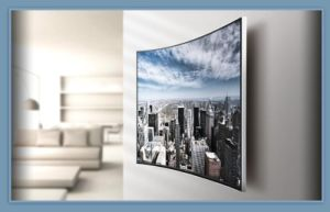 Chinese Domestic Brand TV with Curved Screen pictures & photos