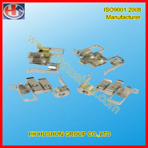 Custom Stamping Metal Part Brass Electrical Contact (HS-BC-035) pictures & photos