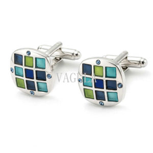VAGULA New Style Top Quality Enamel Gemelos Crystal Cufflinks 167 pictures & photos