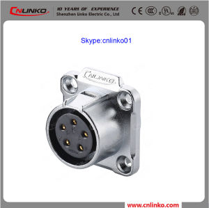 High Quality Cnlinko IP67 5pin Power Application Female Gender Panel Mount Socket for LED Screen/ Lp20 Waterproof Power Connector pictures & photos