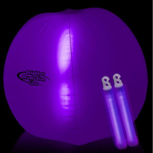 Promotion Pink Color Inflatable Beach Ball with LED Bang Inside for Event pictures & photos