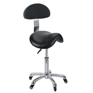 Saddle Stool with Backrest Hair Salon Chair Zc03 pictures & photos