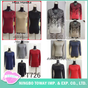 High Quality Ladies Clothing Best Fine Flower Beaded Knitwear Design pictures & photos