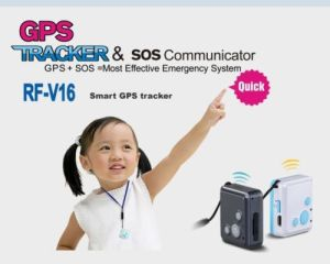 Micro GPS Tracker Hidden Mini GPS Tracker RF-V16 with Sos Communicator for Kids, Children, Old People and So on pictures & photos