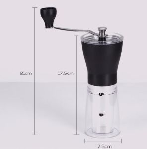Amazon Hotsale Portable Ceramic Core Handshaking Glass Bottle Hand Crank Coffee Grinder pictures & photos