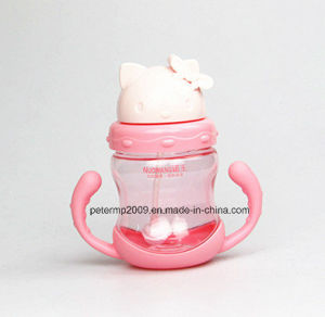 280ml Baby BPA-Free Tritan Water Bottle for Kids with Straw, Pink Color Water Bottle pictures & photos