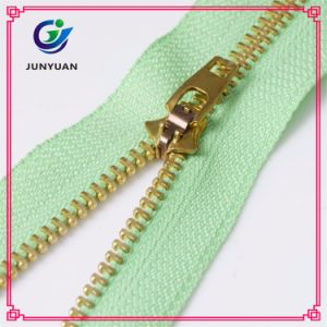 Shiny Golden Metal Zipper Close End Wholesale pictures & photos