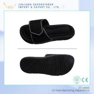 EVA Unisex Open Toe Black Fabric Upper Slipper pictures & photos