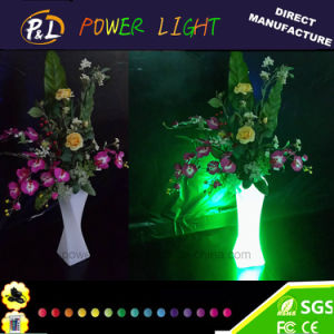 Home Decoration Plastic Wireless Color Changing LED Vase pictures & photos