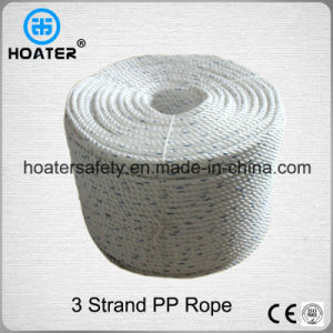 3 Strand Twisted Durable PP/PE Plastic Rope for Outdoor Use