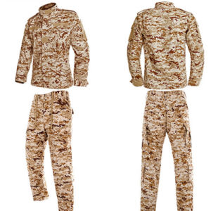 Three-Color Pattern 65%Ployester and 35%Cotton Rip-Stop Acu Army Combat Uniform pictures & photos