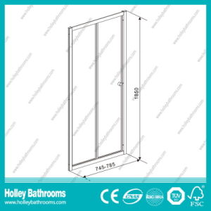 Aluminium Folding Shower Pivot Door with Tempered Laminated Glass (SE919C) pictures & photos
