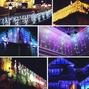 China Supplier 6*3m 600LED Curtain Light Width 25LED/ Drop String Total 24PCS Strings for Outdoor Christmas/Party Use pictures & photos