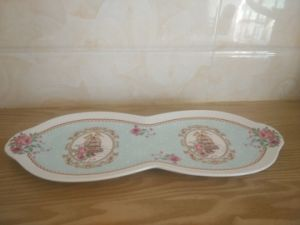 European Dining Room Ceramic Home Kitchen Double Tray Platter pictures & photos