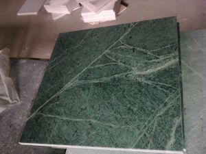 Dark Green Polished Marble Tiles for Countertop pictures & photos