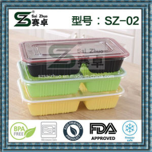 2compartment Food Use and Plastic Material Lunch Box pictures & photos
