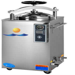 2017 75L Ce Certificated Vertical High Press Steam Autoclave with Wheel pictures & photos