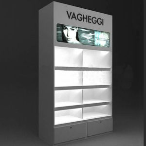 Hot Sales Wooden Exhibit Display with LED Light Platform pictures & photos