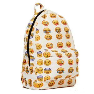 New QQ Printing Emoji Backpack Canvas Travel Satchel Cute Gril School Rucksack pictures & photos