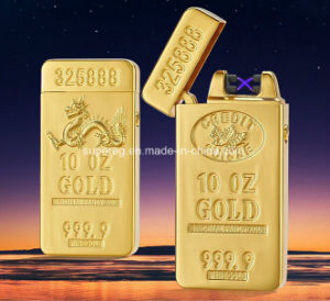 Gold Bullion Double Arc Electronic Pulse Lighter pictures & photos