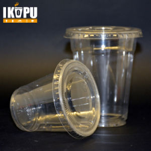 New Designed Plastic Clear Cups with Flat Lids pictures & photos