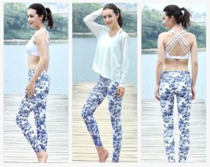 Flower Printing High Quality Plus Size Tight Yoga Leggings pictures & photos