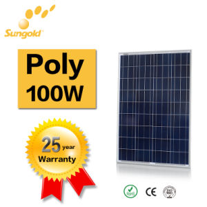 Price Per Watt Solar Panels 100W 18V Polycrystalline pictures & photos