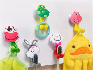 Cute Toothbrush Wall Holder Suction Cup Cartoon Animal Sucker Bathroom Storage pictures & photos