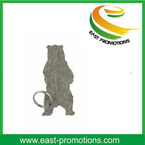 Custom Logo Printed Polyester Felt Key Chain pictures & photos