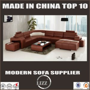 Modern Design House Furniture Real Leather Corner Sofa pictures & photos