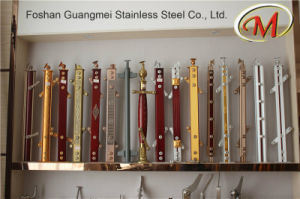 Titanium Surface Finish Stainless Steel and Wood Material Railing Pillar pictures & photos
