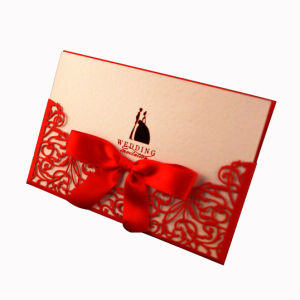Customized Paper Hollow Wedding Invitation Card Printing pictures & photos