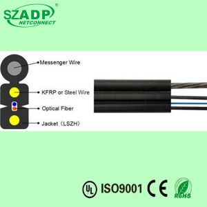 Self-Supporting Bow-Type FTTH Drop Parallel Fiber Optic Cable GJYXFCH pictures & photos