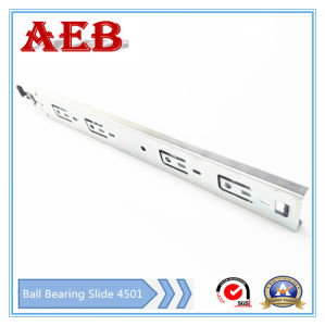 2017 Furniture Customized Cold Rolled Steel Three Knots Linear for Aeb4501-250mm Full Extension Ball Bearing Drawer Slide pictures & photos