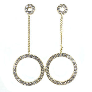 Silver Drop Earring Drop Pearl Earring with AAA White CZ for New Design (E6852) pictures & photos