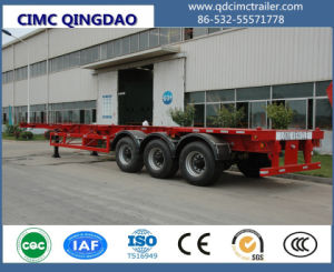 Cimc Hot Sale Tri-Axle 45tons Skeleton Container Semi Trailer Truck Chassis pictures & photos