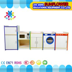 Children Home Life Role-Play School Wooden Furniture Cabinet pictures & photos